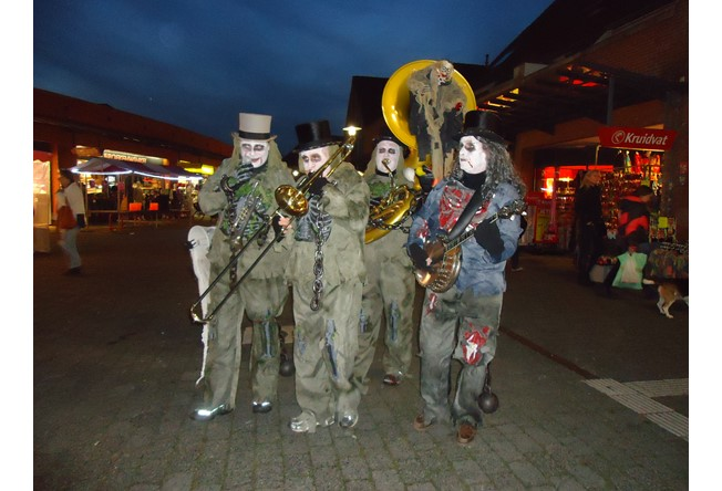 Halloween entertainment: muziek band
