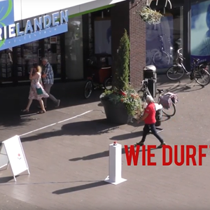 don's push the red button winkelcentrum promotie