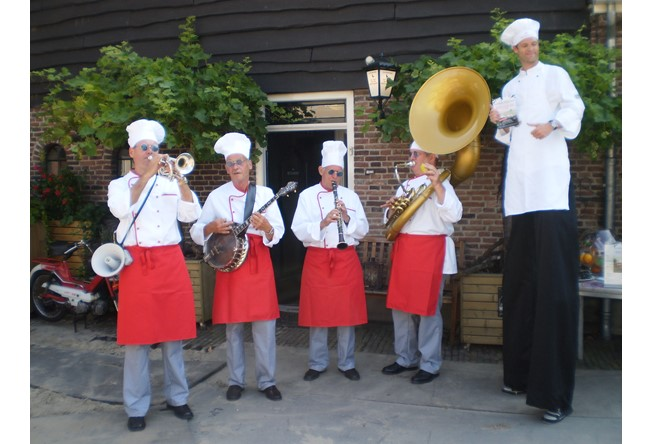 Culinair entertainment: Muziekband koks